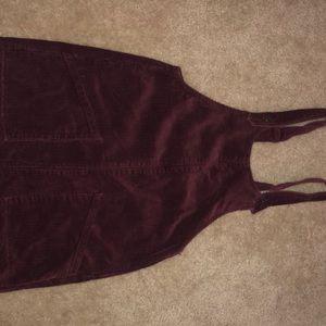 Maroon Corduroy Dress Size Medium